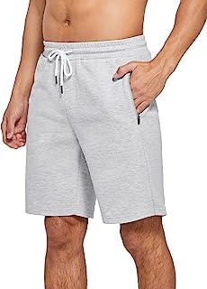 SPECIALMAGIC 男式健身房运动性能运动衫短裤 10 英寸(约 25.4 厘米)休闲棉质休闲短裤带口袋