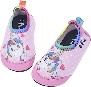 儿童幼儿水鞋幼儿赤脚速干水瑜伽袜一脚蹬 适合婴儿儿童男孩女孩 室内室外轻质防滑橡胶鞋底