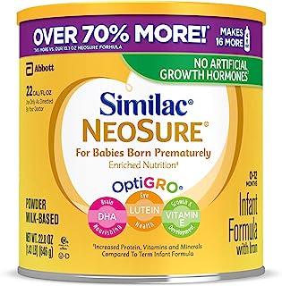 Abbott 雅培 Similac 恩美丽系列 NeoSure 含铁婴儿奶粉,22.8盎司,646克(4盒),适用于早产婴儿