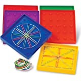 Learning Resources 双面各种形状的土工板,一组6个板,适合年龄5岁以上的人群,多色,5英寸(约12.7…