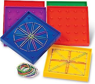 Learning Resources 双面各种形状的土工板,一组6个板,适合年龄5岁以上的人群,多色,5英寸(约12.7厘米)
