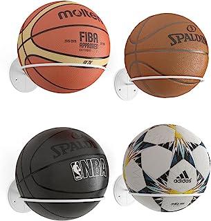 Wallniture Sporta 球收纳架 壁挂式 4 件套足球、排球和篮球架,金属