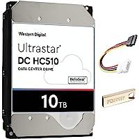 FD 10TB 内置硬盘*套件,带西部数据 10TB WD Ultrastar DC HC510,7200RPM,256…
