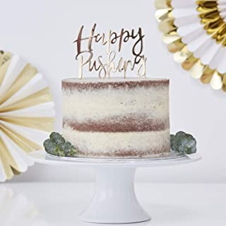 Ginger Ray 金箔快乐推动婴儿沐浴蛋糕装饰派对纸杯蛋糕装饰1件装
