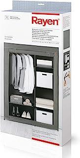Rayen 衣柜带插板,灰色,105 x 161 x 45 厘米