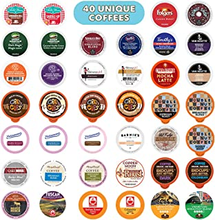 Custom Variety Pack 适用于Keurig咖啡机的K-Cup单份咖啡多种口味混合装,40颗