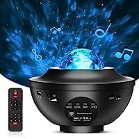 AOXOI 夜灯投影仪 3 合 1 星形投影仪带 LED 星云,适用于儿童婴儿卧室/游戏室/家庭派对/夜灯环境,内置蓝牙…