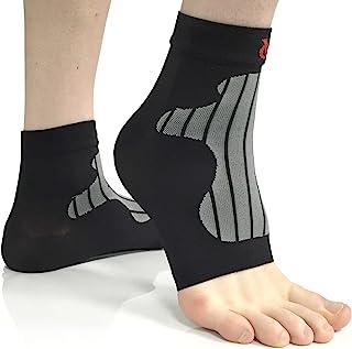 VeloChampion 脚踝和*压缩支撑/袖子(一对)非常适合脚底*、扭伤、*