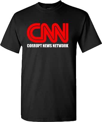 CNN Corrupt News Network on a 黑色 T 恤 黑色 4X