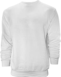 Venley Weighted 男式白色圆领羊毛衫