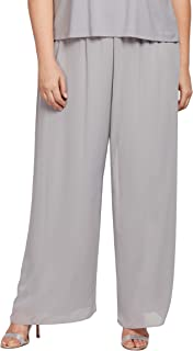 Alex Evenings 女士直筒正装长裤(小号常规加大尺码)