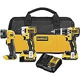 DEWALT 得伟 DCK387D1M1 20V Max XR 紧凑 3 工具组合套件