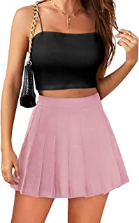 女式高腰网球裙短裙带口袋短裤运动高尔夫跑步裙健身运动服