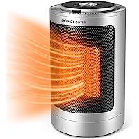 便携式空间加热器,陶瓷加热器风扇带顶端过热保护和振荡,快速加热电加热器适用于家庭房间办公室和室内使用