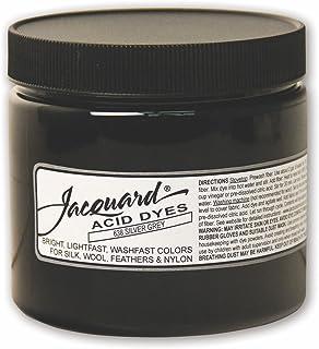 用于羊毛、丝绸和其他蛋白质纤维的提花酸染料,8 盎司罐装,浓缩粉,银灰色 638