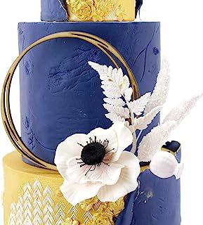 Katy Sue Designs 18-20007LTF 大型扭花环木制亚克力蛋糕装饰高级纪念品蛋糕蛋糕派对装饰(儿童、成人、生日、婚礼、纪念日、新奇)