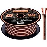 InstallGear 12 号扬声器线 - 99.9% 无氧铜 - 真实规格和软触电缆IG12100OFC 100 英…