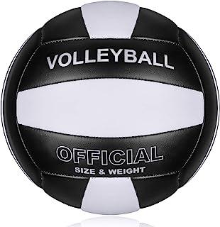 专业尺寸 5 排球,PECOGO PU 皮革柔软室内户外排球运动训练器材,适合初学者、青少年成人