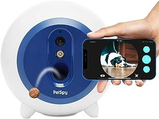 狗狗*分配器带摄像头 WiFi 全高清宠物监视器 双向音频夜视移动应用程序控制狗狗和猫远程*投掷