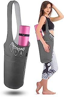Zenifit 瑜伽垫袋 - 长手提包 - 可收纳更多瑜伽配件。可爱的瑜伽垫支架带附加瑜伽垫带弹性。时尚实用的瑜伽垫包和背带 适合女性