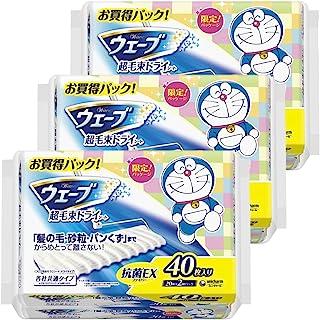 【量贩装】Wave 地板用清洁用品 干片 超毛束 40张×3个(哆啦A梦包装)(清洁用品)