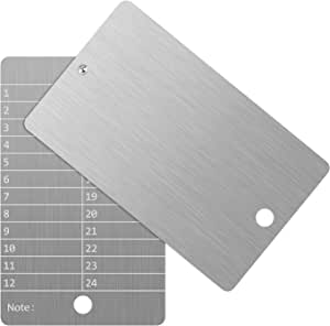 ArlinaL 钢比特币钱包,加密货币钱包,用于硬件冷钱包备份,比特币加密货币种子存储兼容所有 BIP39 硬件(2 个盘子和防篡改密封)