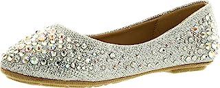 Link 女孩 Larisa-39K 水钻芭蕾舞平底鞋