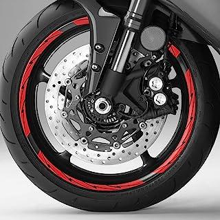 KETABAO 轮缘贴纸 43.18 厘米条纹胶带包装 DIY 16 件FLASH 适用于 XSR 700 900 MT10 MT09(黑红色)