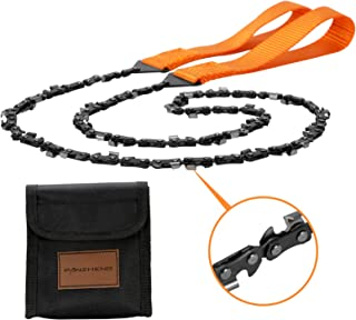 PANZHENG 袖珍电锯 36.6 英寸(约 91.9 厘米)长绳锯,两侧配有 46 个锋利刀片,轻松折叠手锯,适用于树切和生存装备