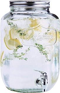Estilo 玻璃单瓶 Mason 罐饮料分配器,无泄漏 spigot, 2 加仑