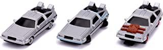 Back to The Future 1.6 英寸 Nano 3 件装压铸汽车,适合儿童和成人的玩具