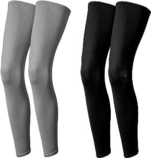 2 对压缩腿套 运动压缩 防紫外线 长袖 男女 适合户外运动跑步、骑行、远足