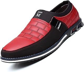 COSIDRAM 男式休闲鞋夏季运动鞋乐福鞋透气舒适步行鞋时尚驾车鞋豪华黑色棕色皮革鞋适合男士商务工作办公室服装户外