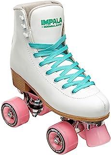 Impala Sidewalk 女士滚边滑冰鞋 - 白色/粉色