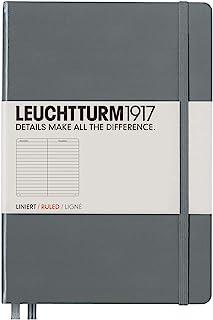 LEUCHTTURM1917 灯塔中开横格笔记本深灰色硬封皮(A5)
