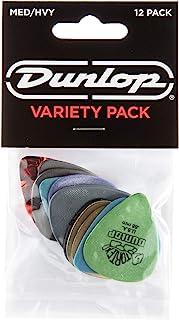 Jim Dunlop PVP102精选多种包装 琴弦拨片,中/重型,12个/演奏者包装,多色
