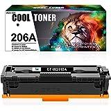 Cool Toner 兼容硒鼓替换件适用于 HP 206A 206X 碳粉彩色激光打印机 Pro MFP M283fdw…