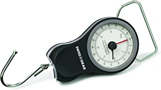 SwissGear 手动行李箱秤,内置胶带尺寸 - 测重可达 83 磅(约 37.6 公斤),尺可达 40 英寸(约 101.6 厘米) 灰色 均码