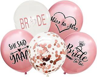 30 件玫瑰金新娘气球,小姐对夫人的气球,她说 Yaas 气球,单身派对装饰淘气,新娘淋浴,母鸡派对,婚礼,订婚派对,团队新娘派对气球
