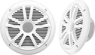 BOSS Audio Systems MR6W 每对180瓦,6.5 英寸,全范围,双向防风雨船用扬声器成对出售,白色