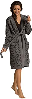 Barefoot Dreams CozyChic Barefoot in The Wild Robe 石墨色/碳色 MD (US 10-12)