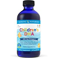 Nordic Naturals 儿童 DHA 液 - Omega-3 DHA 儿童鱼油补充剂,支持儿童心脏*和大脑* 8…