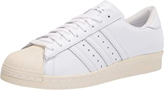 adidas 阿迪达斯 Originals 男式 Superstar 运动鞋 白色/米白色 9