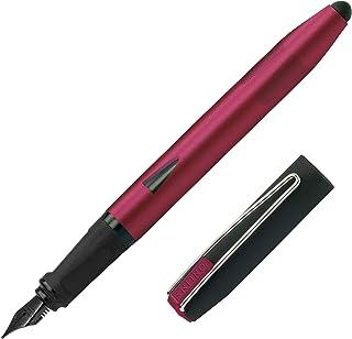 Online 鋼筆 Switch Plus,墨盒鋼筆 & 觸摸筆合一,適用于平板電腦和智能手機,多功能筆,包括組合墨盒,紅色,銥筆尖粗細 F