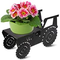 装饰金属植物架和花盆支架   现代户外和室内植物支架   送给植物爱好者的*礼物   拖拉机设计. 黑色