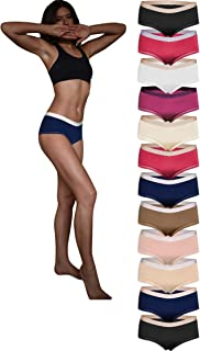 Sexy Basics 女式 12 条装平角内裤 | 超柔软丝滑尼龙 - 氨纶弹力内裤