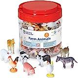 Learning Resources 农场动物计数器,10种不同的动物,60套,适合3岁以上的人群,多色