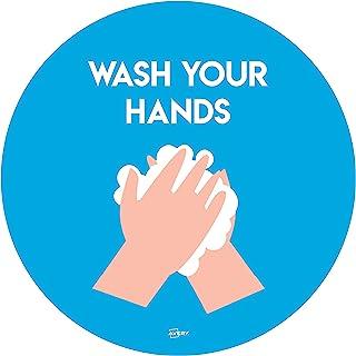 Avery COVID-19 洗手,圆形,275 毫米,2 个自粘性海报 每包