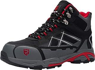 LARNMERN 钢头鞋男士,工作*结构鞋,反光条纹轻质防穿刺鞋履 LM1609