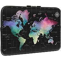Lapac 彩色地图笔记本电脑内胆包 13-13.3 英寸,防水氯丁橡胶轻质电脑皮包,笔记本电脑便携包适用于 13/13…